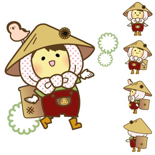 福光農業協同組合マスコットキャラクター「もへじくん」