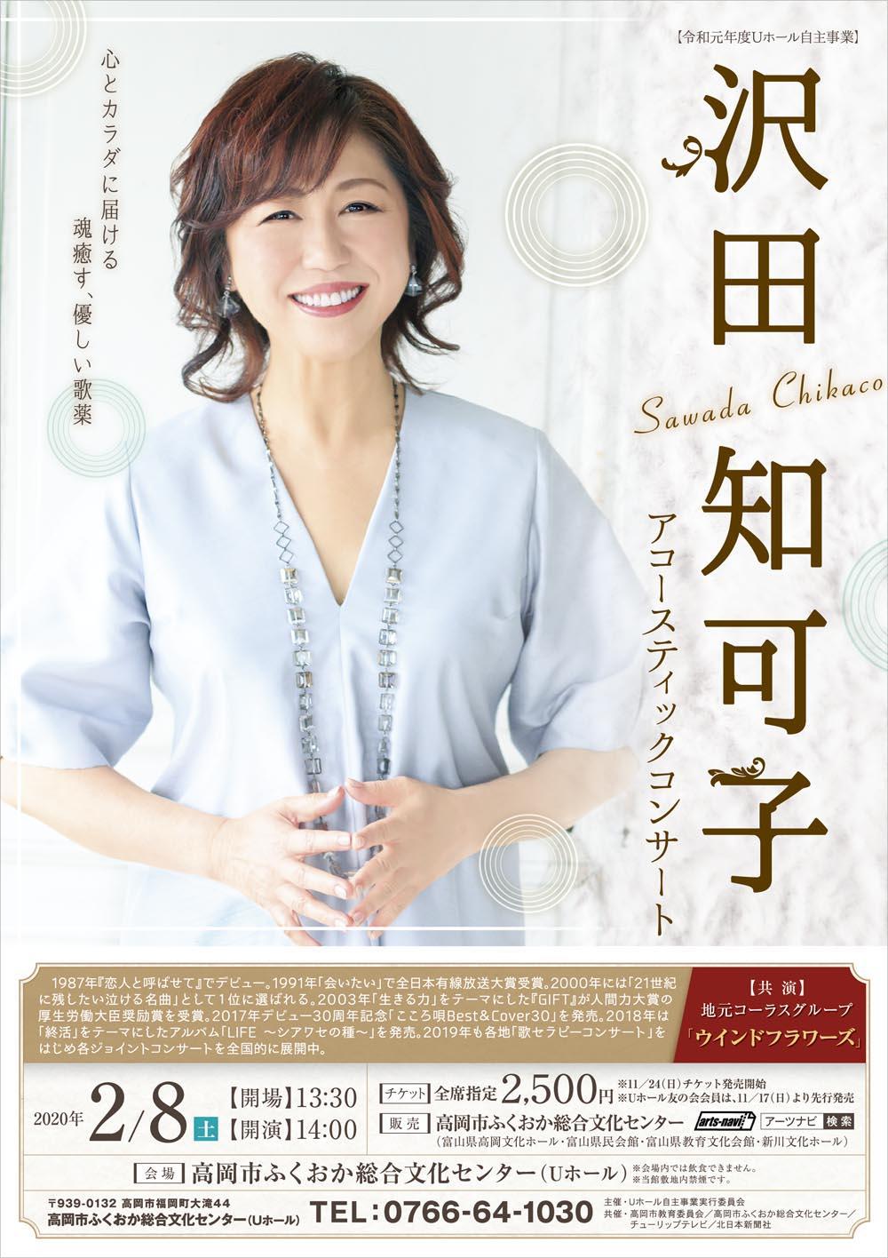 歌手・沢田知可子さんのコンサートのポスターと広告を製作しました。沢田知可子さんのやわらかな印象が伝わるデザインにしました。
